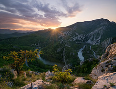 Spring sunset over Cherepishki skali rocks photo by emil.rashkovski