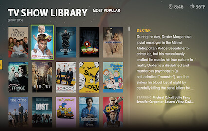 Boxee TV Show Library