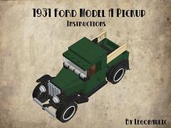 1931 Ford Model A Pickup Instructions photo by Legohaulic