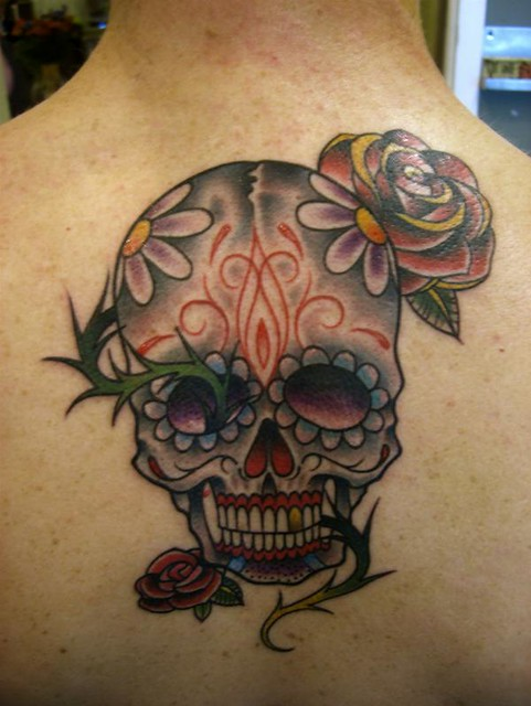 day of the dead tattoos pictures. Day Dead Folk Art Just as the