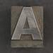 Caslon metal type letter A