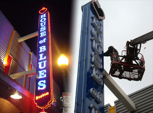 House of Blues - Sign Installation