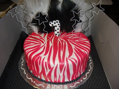 Pink Zebra Birthday Cake photo by Cakes by Kali