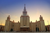 Moscow State University (MGU). Just before sunset