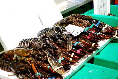 Billlingsgate fish market - lobster 2