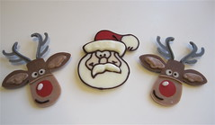 Reindeer & Santa cupcake toppers photo by jlmooraj