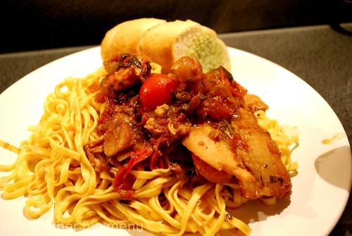 Fish stew pasta