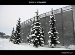 snow in keilaniemi photo by harrypwt