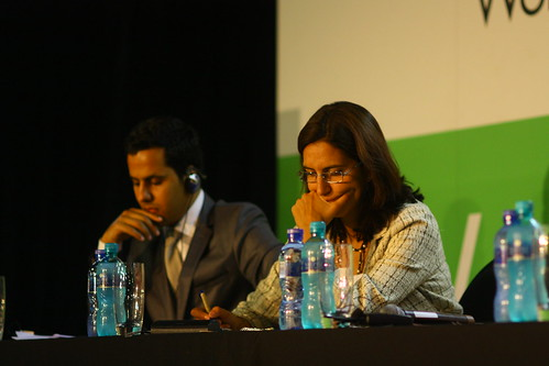 Ammar Kessab (Algeria) and Mercedes Giovinazzo (Spain), 4th World Summit on Arts & Culture