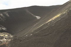 Cerro Negro other group exiting out of the sulfur vents