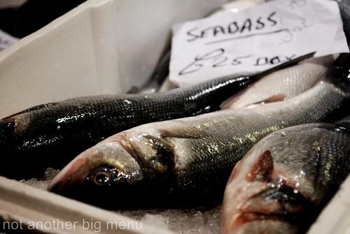 Billlingsgate fish market - seabass