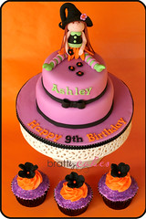 Halloween B-Day Cake & Cupcakes photo by Natty-Cakes (Natalie)