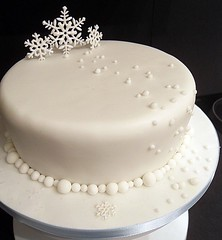 Snowflake Christmas Cake photo by purecakes (lizzie)