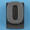 metal type letter O
