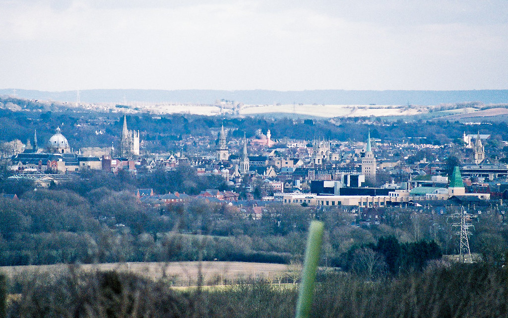 Oxford from Wytham Woods