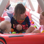 Emma and Libby playing with Amy<br/>03 Apr 2010