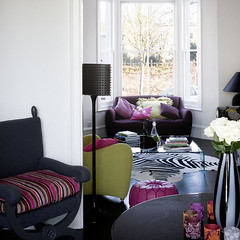 Pink Purple and Green Living Room photo by BrunchatSaks