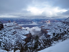 North Rim Clouds from Bright Angel Trail - Grand Canyon photo by Al_HikesAZ