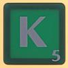 scrabble letter K