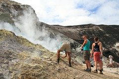Cerro Negro checking out the sulfur vents