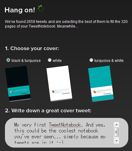 tweet notebook