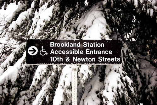 Brookland Station; Accessible Entrance 10th and Newton