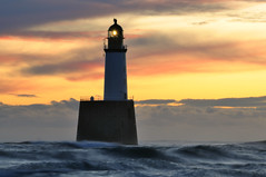Dawn at Rattray Head lighthouse, Aberdeenshire, Scotland photo by iancowe