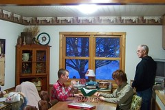 Christmas chess at Grandpas
