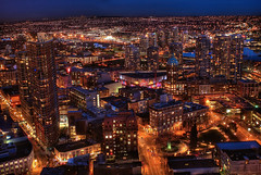 Vancouver by Night (HDR) photo by Brandon Godfrey