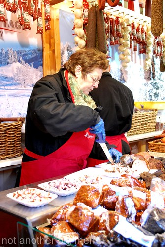 Manchester Christmas market - sausage stall 11