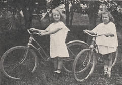 Two Girls with Bicycles, 1918 photo by UA Archives   Upper Arlington History