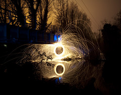 Wire wool reflection photo by Robert Wells