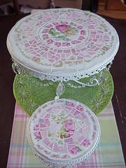 cake pedestals set photo by Enchanted Rose Studio