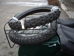 knobby tire for the ural