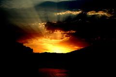 Sunset @ Hirekolalu lake - Chikmaglur