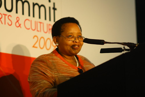 Minister of Culture, Hon Ms Lulu Xingwana opens the first session of the 4th World Summit on Arts & Culture