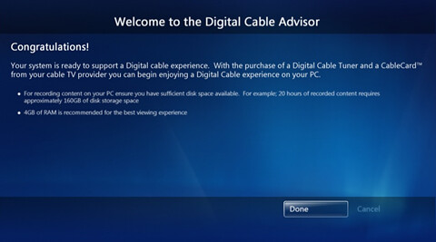 Windows 7 MC Digital Cable Advisor 12