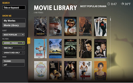 Boxee Movie Library