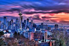Blazing Seattle Sunset photo by Surrealize