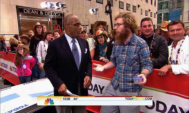 Thomas Shahan (and a Salticid) on NBC's The Today Show! photo by Thomas Shahan