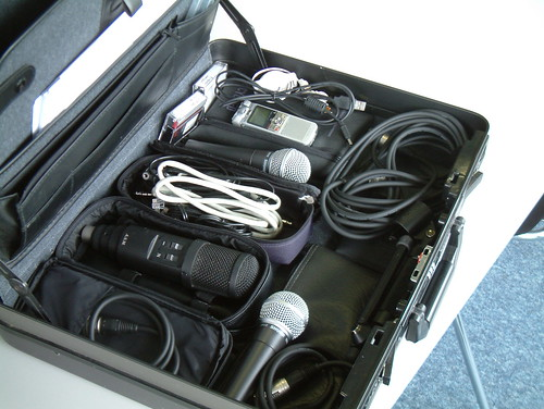 podcasting briefcase