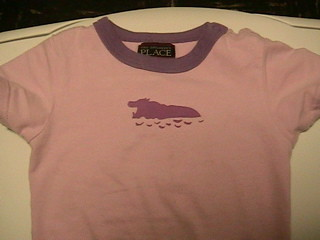 hippo stencil t-shirt, after