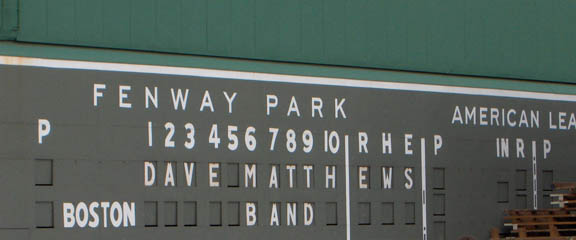 Dave Matthews Band at Fenway Park
