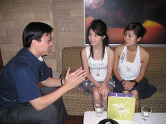 Me Interviewing Samantha Tan and Ezann Lee