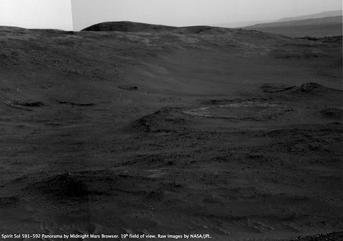 Spirit Sol 591 - Home Plate View