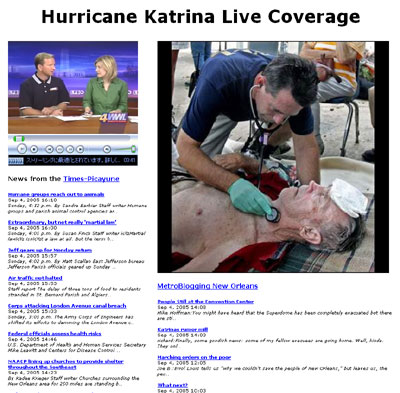 Hurricane Katrina Live Coverage