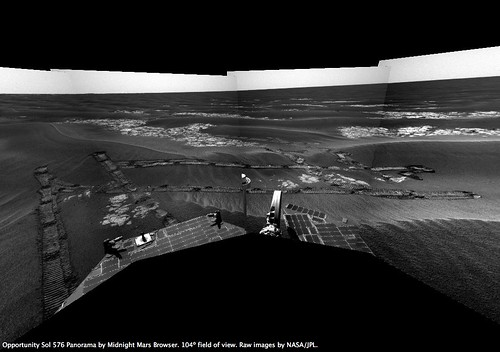 Opportunity Sol 576 - Zig-Zagging Along