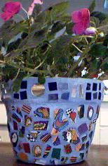 Mosaic Purple Planter
