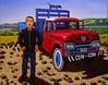 Autorretrato con camion ford del 58