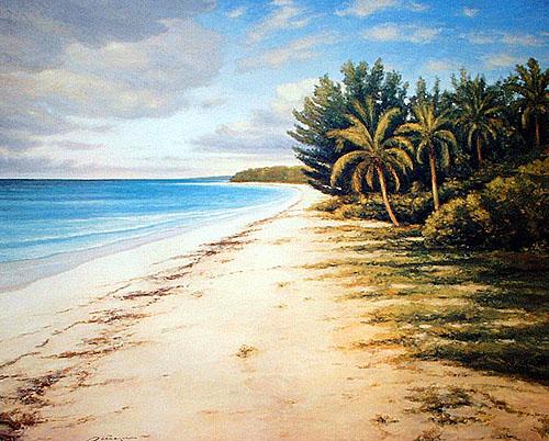 Tropical Beach at Daybreak